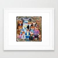 Photo de la famille  Framed Art Print