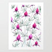 small purple flowers Art Print