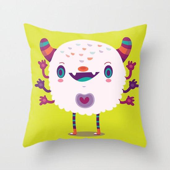 Puffy monster Throw Pillow