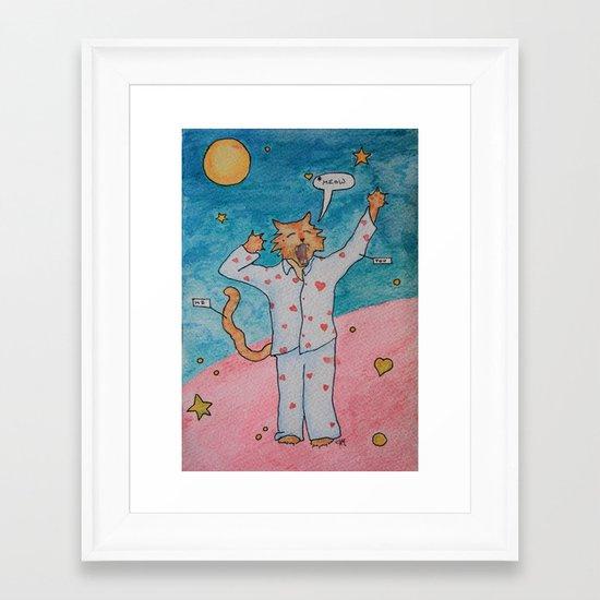 Cat's Pajamas Framed Art Print