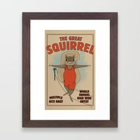 The Great Squirrel Framed Art Print