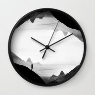 Black Wasteland Isolatio… Wall Clock