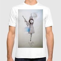 Songs That Were Blue, So… Mens Fitted Tee White SMALL