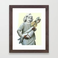 The Woman Who Gave Birth… Framed Art Print
