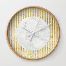 inverse gOld sun Wall Clock