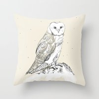 Mr Barnsby Owlsworth the 16th Throw Pillow
