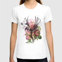 BYE BIRDIE Womens Fitted Tee White SMALL