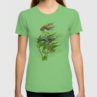 The Little Mermaid Womens Fitted Tee Grass SMALL