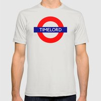 Timelord Mens Fitted Tee Silver SMALL