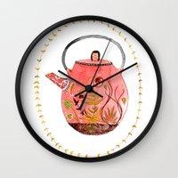 teapot terrarium Wall Clock