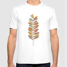 Branch 2 White SMALL Mens Fitted Tee