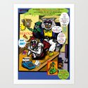 Bird of Steel Comix - Page #5 of 8 (Society 6 POP-ART COLLECTION SERIES)  Art Print