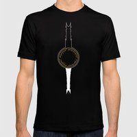 The Two Towers Mens Fitted Tee Black SMALL