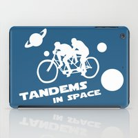 Tandems in Space in Blue iPad Case