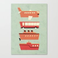 The Tubes We Travel In Canvas Print