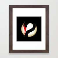 Black Swan Logo Framed Art Print