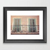 The lovely windows Framed Art Print