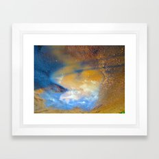 Sky in a puddle... Framed Art Print