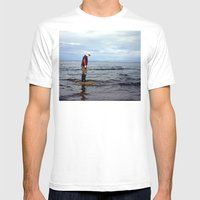 A Boy And The Sea 2 Mens Fitted Tee White SMALL