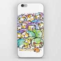 Hedgehog family iPhone & iPod Skin