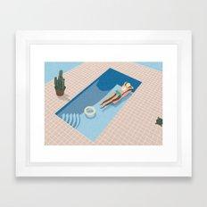 2 COOL 4 POOL Framed Art Print