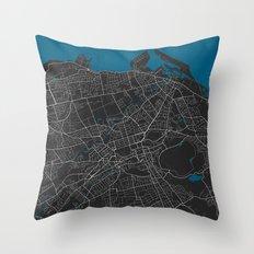 Edinburgh City Map Black… Throw Pillow