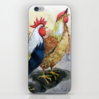 Rooster and Hen iPhone & iPod Skin