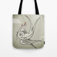 Peace Sparrow Tote Bag