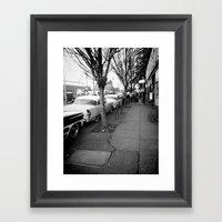 Down The Row Framed Art Print