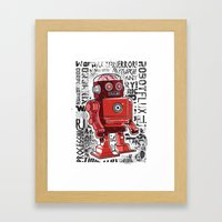 Robot Flux Framed Art Print
