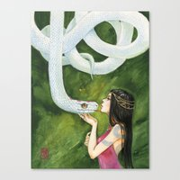 The White Snake Canvas Print