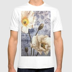 Enchanting White Flowers Mens Fitted Tee SMALL White