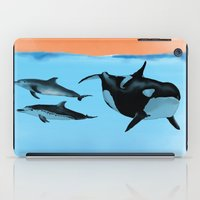 Orca And Dolphin iPad Case
