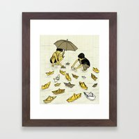 Paper Boats Framed Art Print