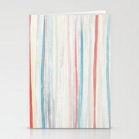 Painterly Stripes Stationery Cards