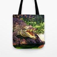 Awesome Crocodile Tote Bag