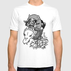 Captain Duckula the Third White SMALL Mens Fitted Tee
