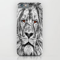 iPhone & iPod Case featuring Black Lion by AnacondaOnline.eu