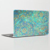 Laptop & iPad Skin featuring Sapphire & Jade Stained … by Micklyn