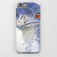 iPhone & iPod Case featuring emu watercolour by Ruca