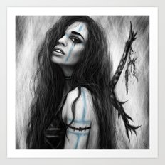 Death's Tireless Whisper  Art Print