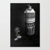 Exterminated Who Canvas Print