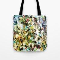 Tote Bag featuring Circles by Tina Carroll