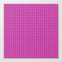 3D Pink Pattern Canvas Print