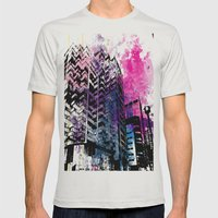 Ciudad #1 Mens Fitted Tee Silver SMALL