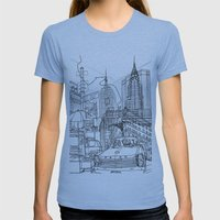 New York! B&W Womens Fitted Tee Athletic Blue SMALL