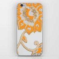 Vintage Paisley Orange/g… iPhone & iPod Skin