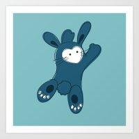 Bunny Hugger Art Print