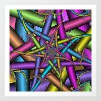 Star Fractal Art Print
