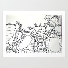 pen and ink hallucination Art Print